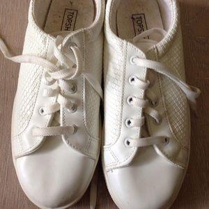 Topshop White Snakeskin Sneakers